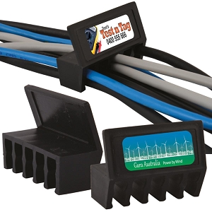 Desk Mount Cable Tidy - Includes a full colour logo