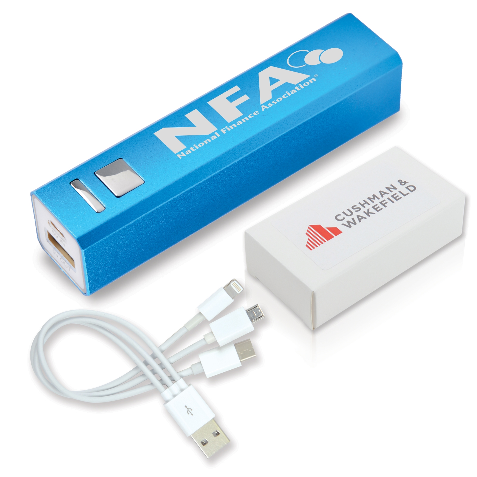 Aluminium Mobile Phone Power Bank - Includes a 1 colour printed logo