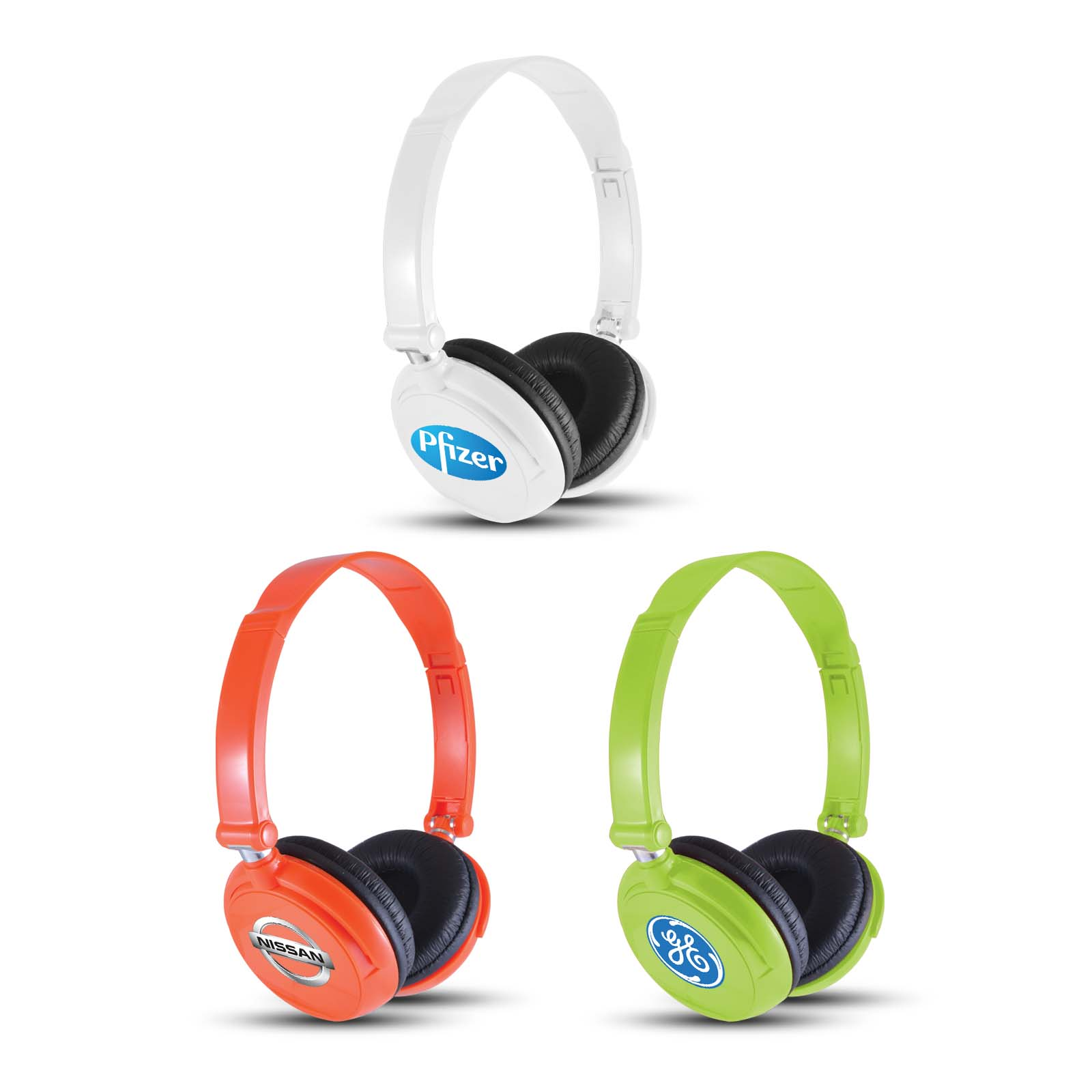 Thrust Wired Headphones - Includes a 1 colour printed logo