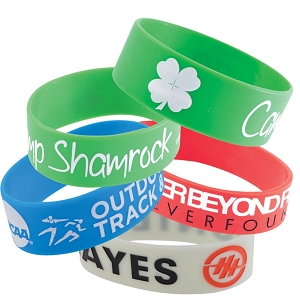 25mm Wide Silicone Wrist Band - Includes debossed logo, From $0.57
