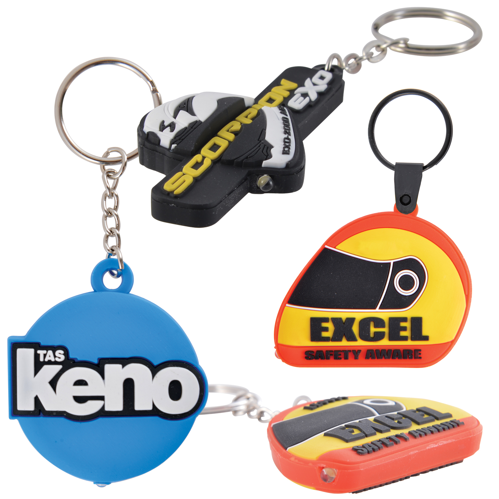 Soho Keytag Torch - 2 Pos Moulded PVC 3D