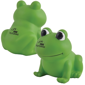 Ribbit PVC Bath Frog  - Includes a 1 colour printed logo