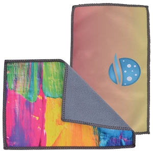Smart Custom Microfibre Cleaning Cloth  - Includes full colour logo