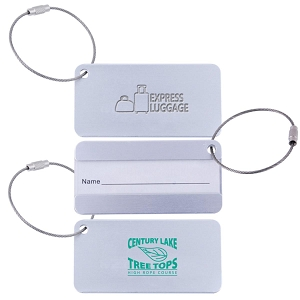 Elite Aluminium Luggage Tag - Includes a 1 colour printed logo, From $1.23