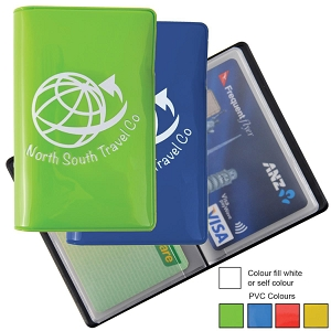 Shiny PVC Credit Card Wallet - Includes a 1 colour printed logo