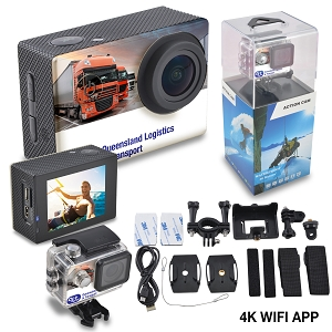 LivNow Action Cam 4K Ultra HD - Includes full colour logo
