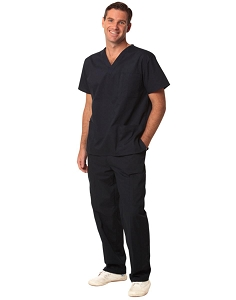 Unisex Scrubs Short Sleeve Tunic Top, From $18.3
