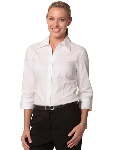 Women's CVC Oxford 3/4 Sleeve Shirt