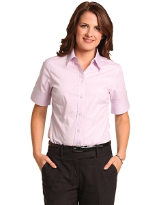 Women's CVC Oxford S/S Shirt