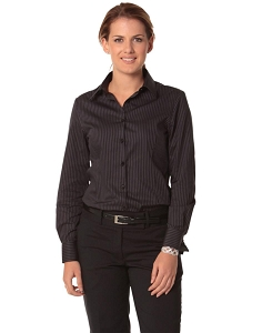 Women's Dobby Stripe Long Sleeve Shirt