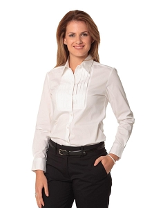 Women's Stretch Tuck Front Long Sleeve Shirt
