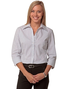 Women's Ticking Stripe 3/4 Sleeve Shirt