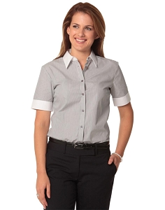 Women's Tic Stripe Short Sleeve Shirt