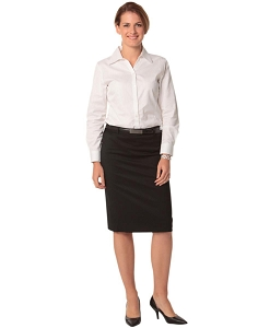 Women's Mid Length Lined Pencil Skirt in Poly/Viscose Stretch, From $31.3