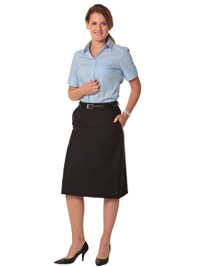 Women's Flexi Waist A-line Utility Lined Skirt in Poly/Viscose Stretch Twill, From $33.9