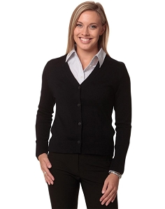 Women's 100% Merino Wool L/S Cardigan