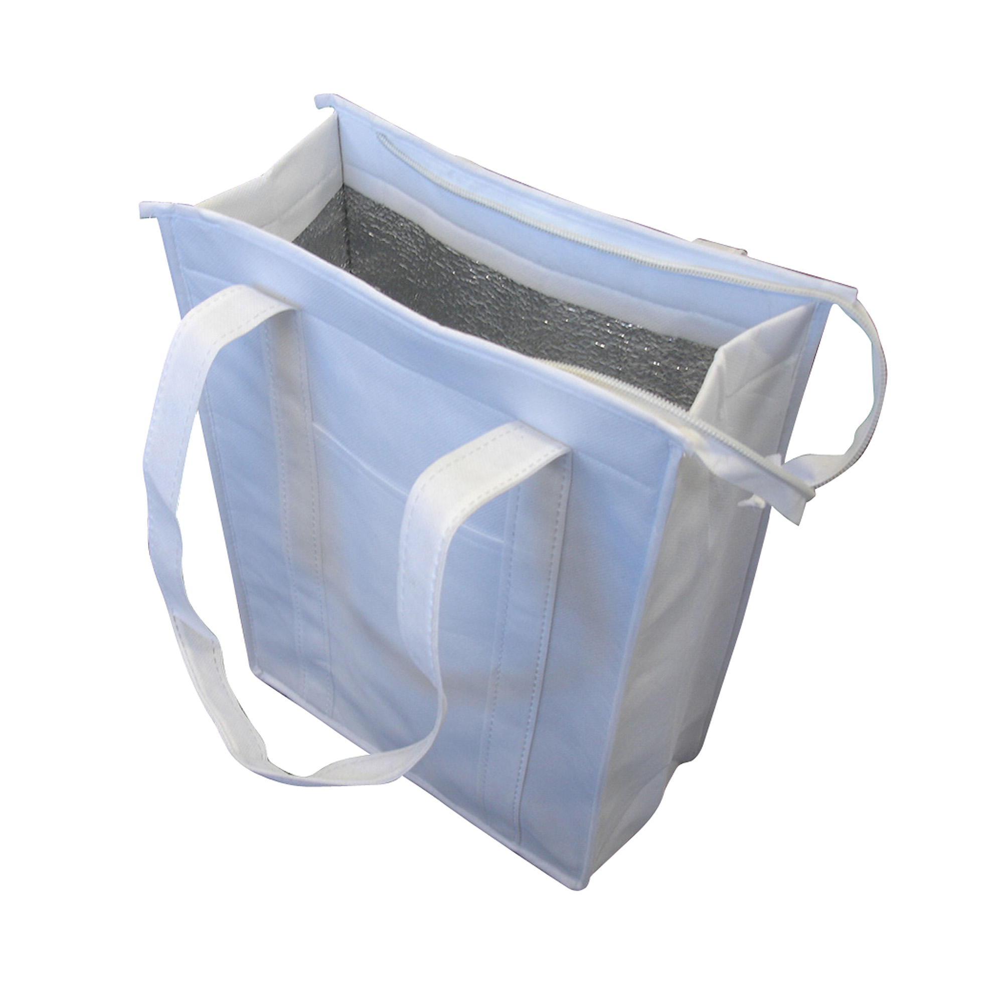 NON WOVEN COOLER BAG WITH TOP ZIP CLOSURE - 1 Colour Print, From $2.46