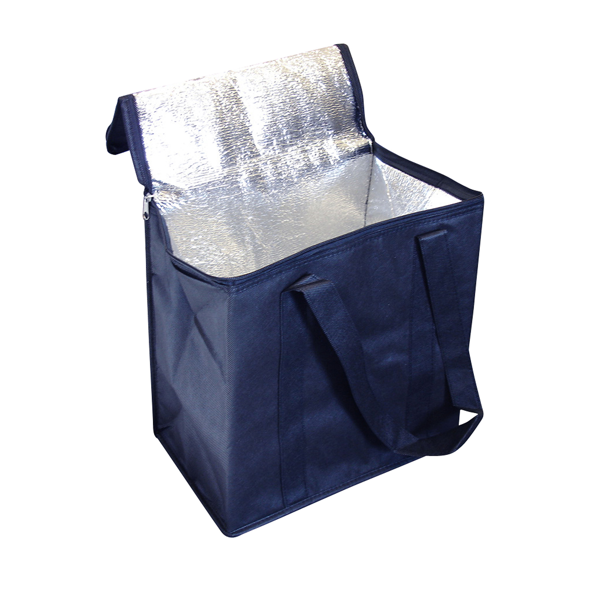 NON WOVEN COOLER BAG WITH ZIPPED LID - 1 Colour Print, From $2.85