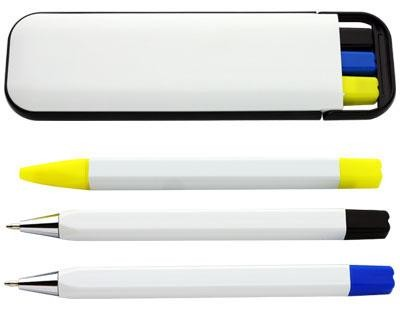 3 in 1 Pen Set - Includes a 1 colour printed logo