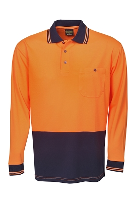 Light Weight Hi Vis Cooldry Polo, L/S