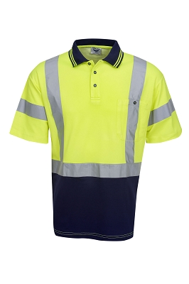 True Dry Hi Vis Polo, S/S, D/N Use