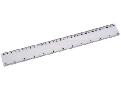 30 cm Ruler - Includes a 1 colour printed logo
