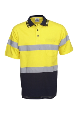 100% Cotton Hi Vis S/S polo, D/N Use
