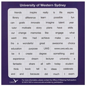 Poetry Magnets 145 x 145 mm - Includes a full colour print, From $0.65
