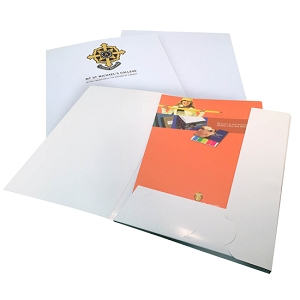 Presentation folder A4, 4 colour laminated 1 pocket with card slots