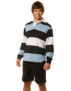 Man's long sleeve rugby top