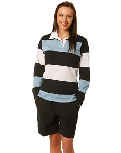 Ladies' long sleeve rugby top, From $22.2