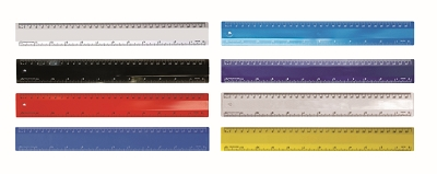 Ruler 400 micron plastic ruler CMYK, From $1.92