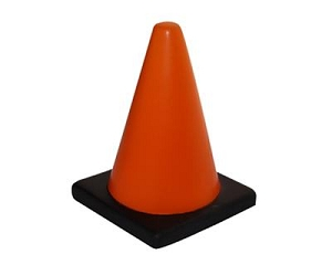 Stress Traffic Cone - Includes a 1 colour printed logo