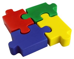 Stress Jigsaw - Includes a 1 colour printed logo