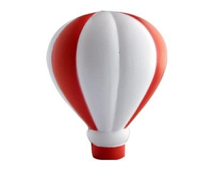 Stress Hot Air Balloon - Includes a 1 colour printed logo