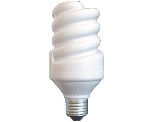 Energy Saving Light Bulb - Includes a 1 colour printed logo