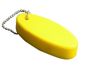 Floating Keyring Yellow - Includes a 1 colour printed logo
