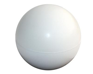 Stress Ball White - Includes a 1 colour printed logo