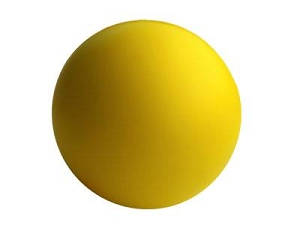 Stress Ball Yellow - Includes a 1 colour printed logo