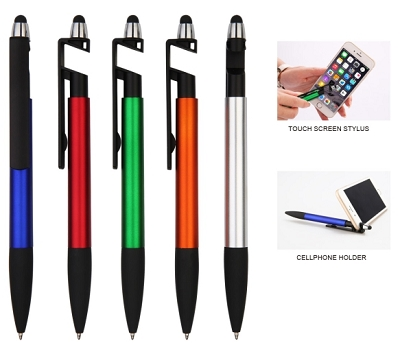 Stylus pen with mobile phone holder - Includes a 1 colour print, From $0.43