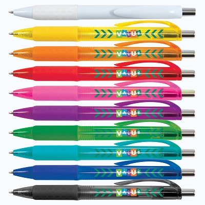 Value Ballpoint Pen - Includes a 1 colour printed logo, From $0.40