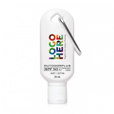 Sunscreen 25ml with Carabiner Clip SPF 50+, From $3.23