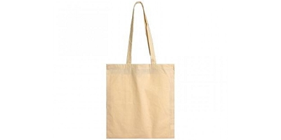 Calico Bags Long Handle - Includes a 1 colour printed logo