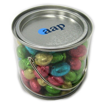 Medium Bucket with Mini Easter Eggs - Includes a full colour label