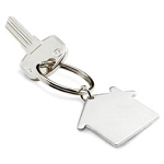 House Shape opener key ring  -  Includes laser engraving logo