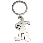 DOG SHAPE KEYRING -  Includes laser engraving logo
