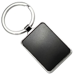 RETANGULAR SHAPE KEYRING -  Includes laser engraving logo, From $1.86