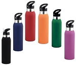 Thermo Drink Bottle -Rubber Paint Finish-BPA Free -  Includes laser engraving logo, From $6.36