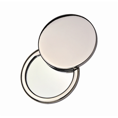Stainless Steel Compact Mirror with laser engraved logo