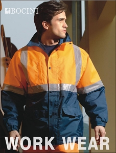 UNISEX ADULTS HI-VIS POLAR FLEECE LINED JACKET WITH REFLECTIVE TAPE